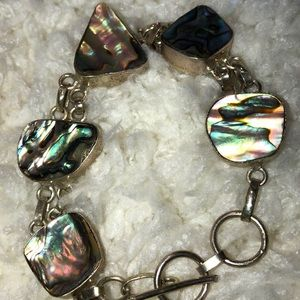 Bracelet silver will not tarnish abalone